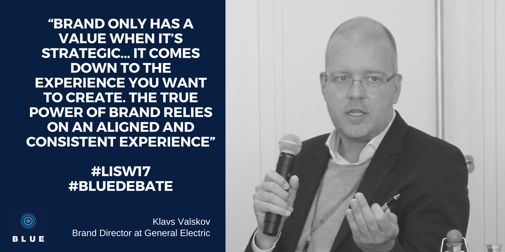 Klavs Valskov, GE & Maersk, discusses the power of brand in shipping at BLUE debate 2017